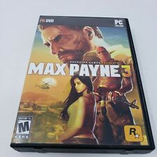 MAX PAYNE 3 COMPLETE 4 DISC PC DVD CD-ROM GAME
