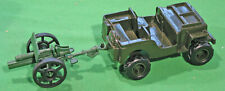 Marx Recast 54mm U.S. Jeep and Chinese-made 25Pdr Field Gun