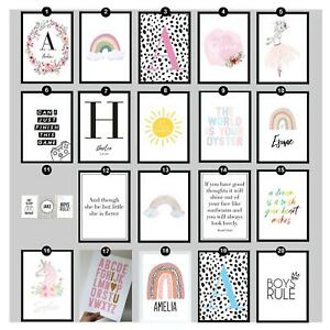 Childrens Bedroom Art Prints Quotes Teenager Boy Girl Personalised Picture Sets