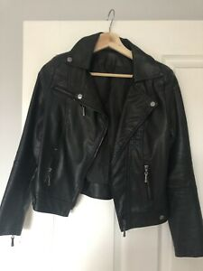Black Leather Jacket Size 6