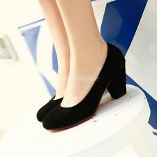 Hot Sale Womens Block Heel Pumps Classic Office Lady Work Court Mary Jane Shoes