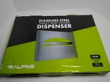 Alpine Industries Stainless Steel Brushed Toilet Seat Cover Dispenser