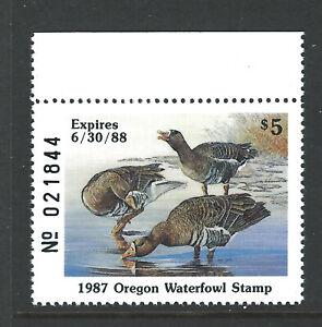 Bigjake: OR4, $5.00 White Fronted Geese, 1987 Oregon