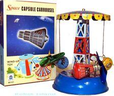 Gemini Space Ship Tin Toy Windup Carousel Rocket
