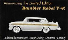 RAMBLER REBEL V-8 1957 Classic Car Ad Vintage Automobile Postcard