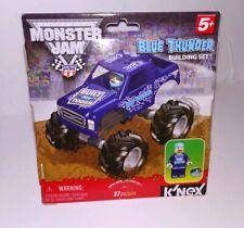 K'Nex Monster Jam Blue Thunder Building Set Truck and Mini Figure Ford