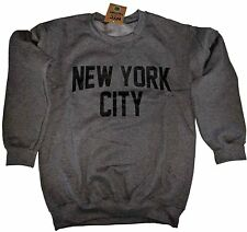 New York City Sweatshirt Screenprinted Dark Heather Charcoal NYC Lennon Shirt