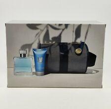 AZZARO CHROME 50ml EDT Eau de Toilette + 50ml Shampoo + Tasche SET NEU/OVP