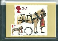 wbc. - GB - PHQ CARDS - 1997 - QUEEN'S HORSES - FRONT- FDI/SHS - COMP SET  USED