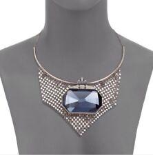 Necklace. New. Blue Stone. Stunning Authentic Swarovski Necklace. Blue Sapphire