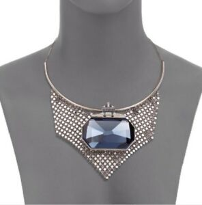 Authentic Swarovski Necklace. Blue Sapphire Necklace. New. Blue Stone. Stunning