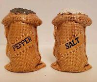 Vintage Made in Japan Sack o/' Salt /& Sack o/' Pepper Shakers Novelty Shakers