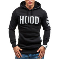 Men Winter Hoodie Sweatshirt Sweater Hooded Jacket Coat Pullover Outwear Tops O