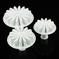 3pcs Fondant Cake Decorating Sunflower Sugarcraft Plunger Cutter Mold Mould、2018