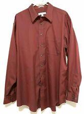 Joseph & Feiss Dress Shirt Size 18 36/37 Tall Dark Red Maroon Non Iron Career