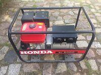 HONDA EC 6000 Benzin E10 Notstromaggregat, Stromerzeuger, Generator 5,5 KW/240V.