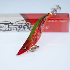 Rui Squid Jig Green Back Red Belly Two Tone Foil UV LURE AKA Capsicum Size 3.5