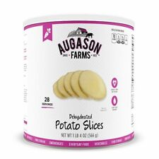 Augason Farms Emergency Food Dehydrated Potato Slices 17oz #10 Can - 1 Can