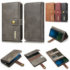For iPhone SE 2020 11 Xs Xr X 8 7 DG.MING Tri-Fold Genuine Leather Wallet Case