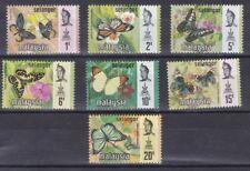 Malaysia Selangor 1971 serie corrente farfalle 93-99 MHN