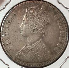 INDIA 1883 B raised Rupee semi-key date