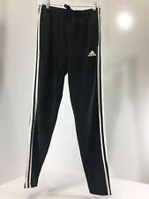 Adidas Men's Classic 3 Stripe Pull On Firebird Track Pants W Zipper Black S NWT@