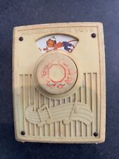 Fisher Price Vintage Packet Radio #775 Pop Goes the Weasel Music Box Toy! Works
