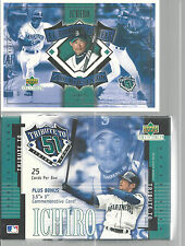 2001 Upper Deck Tribute To 51 Ichiro Suzuki Seattle Mariners Box Of 25 Bonus