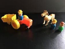 Vintage 1980s Fisher-Price Little People Farm Play Set