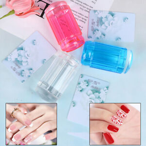 Stamper Transparent Nail Stamp Scraper Polish Print Transfer Nail Stamper F`ju