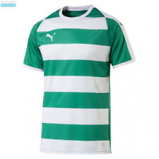 PUMA - T-SHIRT JERSEY LIGA HOOPED GREEN AND WHITE SIZE S