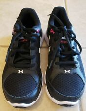 Under armor athletic women's shoes. Black with pink white .sz 6 NWOB