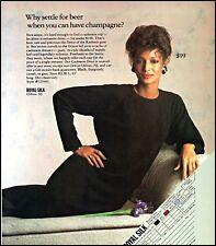 1984 Royal silk cashmere dress sexy woman model vintage photo Print Ad ads16