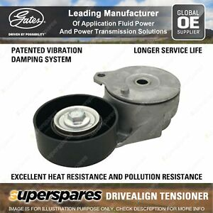 Gates DriveAlign Alternator Tensioner Unit for Nissan Tiida C11 SC11 1.8L