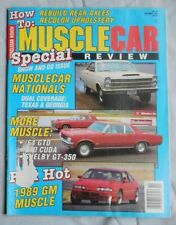 October 1988 MUSCLE CAR Magazine SHELBY GT-350 64 GTO 340 CUDA