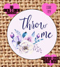 Throw me , wedding confetti stickers , labels , party , floral TM9