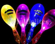 6 PACK LED Maracas Light Up Flashing Rattles Toys Blinking Party Favors