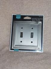 Home Double Light Switch Wall Plate CHOOSE YOUR COLOR/PLATE New