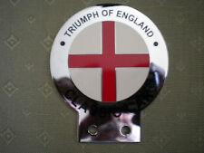 TRIUMPH OF ENGLAND CHROME & ENAMEL CAR BADGE