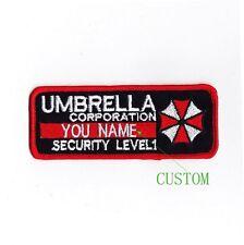 Custom name tapes Resident Evil Umbrella Corporation Badges Patch B1989