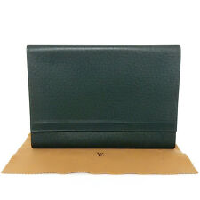 AUTHENTIC LOUIS VUITTON Taiga Volga Document Case M30204 Cluth Bag