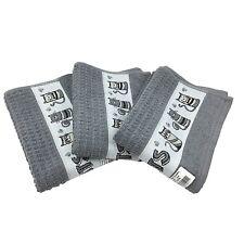 New Riggs Set Of 3 Cats Grey Kitchen Tea Towel, 50cm x 65cm, 100% Cotton