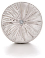 Chenille Mink Round Cushions Luxury Diamante Centre Filled Scatter Cushion