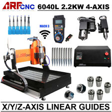 4-Axis CNC 6040L Router Engraver Engraving Drilling Machine Water Cooling 2.2KW