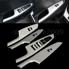 4Pcs Chrome Sliver Door Window Switch Panel Cover Trim For HYUNDAI Tucson 15-16