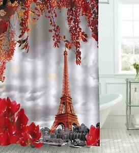 Fabric Bathroom Shower Curtain Set 3D Printed Waterproof