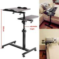 Adjustable Portable Laptop Table Stand Lap Room Sofa Computer Folding Desk UK