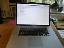 MacBook Pro 17 inch Late 2011 750GB HDD +4GB RAM. 2.4ghz processor. ddr3 inc VAT