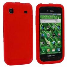 Silicone Skin Case for Samsung Galaxy S Vibrant T959 - Red