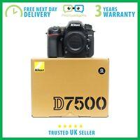 New Nikon D7500 20.9MP DX 4K 8 fps CMOS DSLR Camera Body - 3 Year Warranty